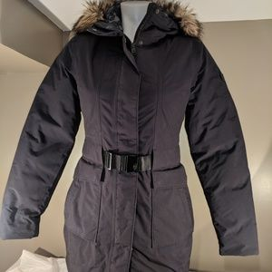 North Face coat, XS, black